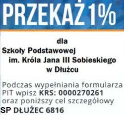 Przekaż 1% dla ZS Dłużec